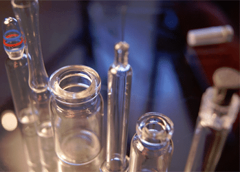 Pharmaceutical Glass Vials ready for Calibrated Micro Leaks